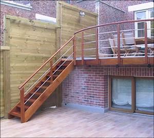 Escalier Extérieur En Bois : mev sprl rampes bois et inox ~ Dailycaller-alerts.com Idées de Décoration