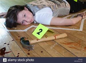 Crime scene with tape around deceased person Stock Photo ...