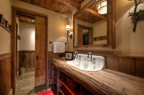Rustic Bathrooms : 17+ Rustic Bathroom Vanity Designs, Ideas