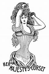 Corset Clip Victorian Era Clipart Coloring Sewing Olddesignshop Majesty Hurt Corsets Ways Silhouette Channel Urbanette sketch template