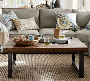 griffin reclaimed wood coffee table pottery barn With griffin reclaimed wood coffee table