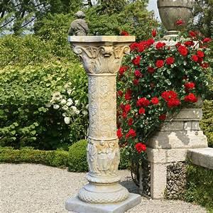 Töpfern Für Den Garten : deko stein s ule f r den garten constanzia ~ Articles-book.com Haus und Dekorationen