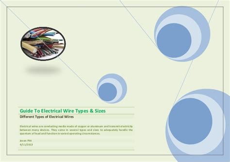Guide To Electrical Wire Types & Sizes