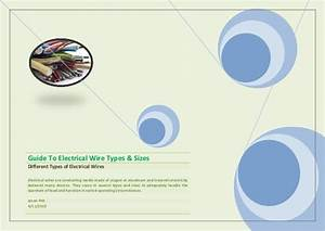 Guide To Electrical Wire Types  U0026 Sizes