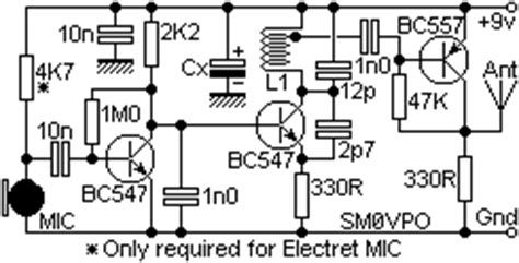 Wireless Microphone Circuit Electronic