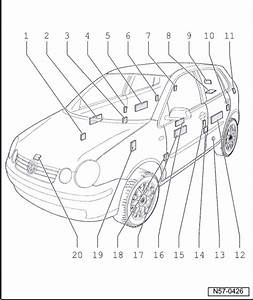 Volkswagen Workshop Manuals  U0026gt  Polo Mk4  U0026gt  Body  U0026gt  General