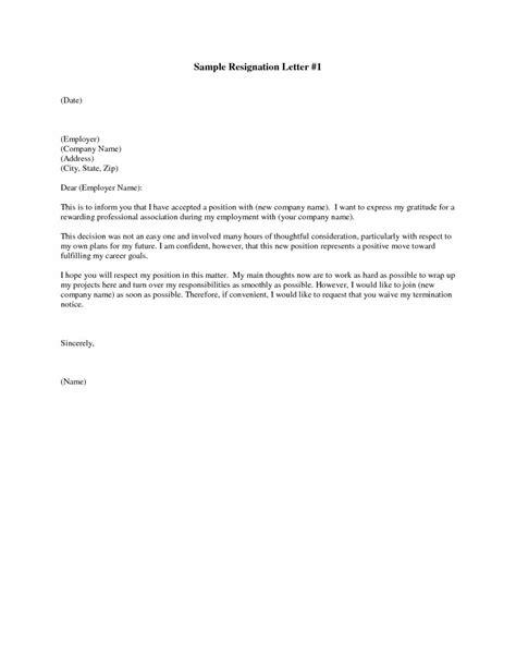 Free Letter Of Resignation Templates ~ Addictionary