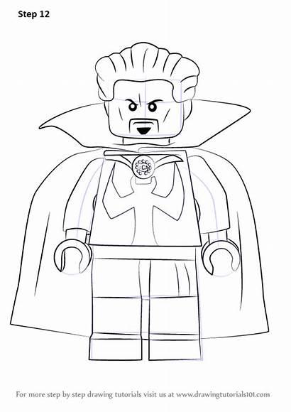 Strange Lego Doctor Draw Coloring Step Marvel