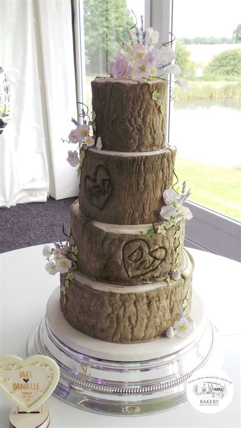Log Wedding Cake Log Effect Wedding Cake 4 Tier Wedding