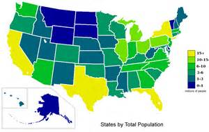 USA Population Map Color States