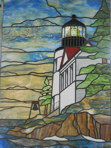 stained glass lighthouse l lighthouse stained pinterest