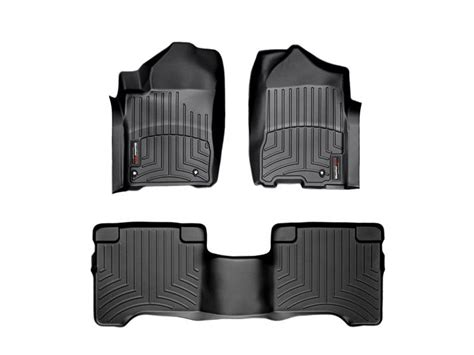 weathertech floor mats infiniti qx56 2008 2010 infiniti qx56 fits with two post holes front and rear floorliners black