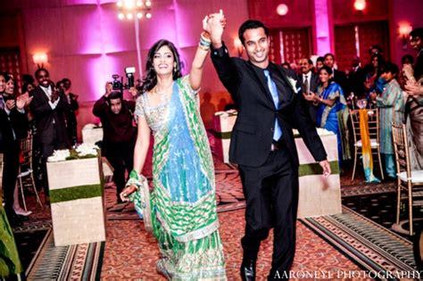 indian wedding reception bride groom dancing maharani