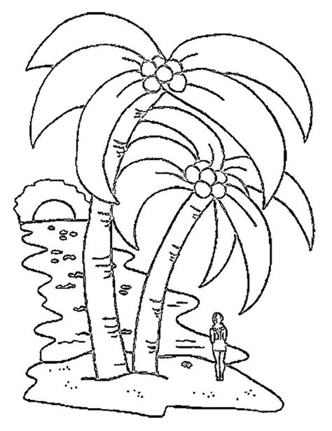 big coconut tree coloring page colouring pages