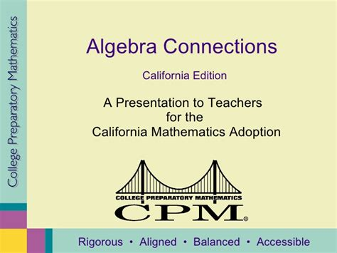 Cpm Technology Algebra Tiles by Cpm Algebra Overview