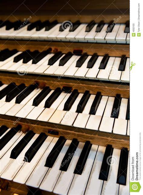 Pipe Organ Keyboard Stock Photos Image 4032103