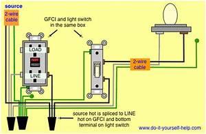 Wiring A Pigtail Off A Gfi Outlet For 60watt Light Bulb