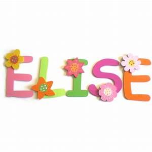 lettres bois prenom fleurs billes de clowns With affiche chambre bébé avec commande fleurs pas cher