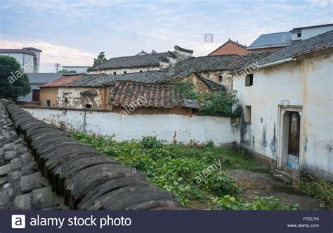 Rooftop View Siping Village, Jinhua, China Stock Photo