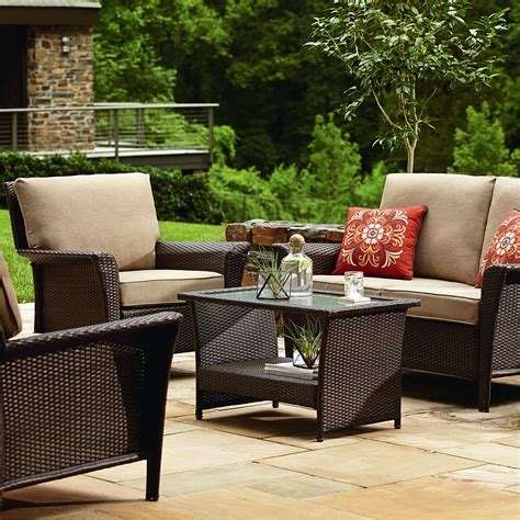 patio seating sets ty pennington parkside 4 seating set limited