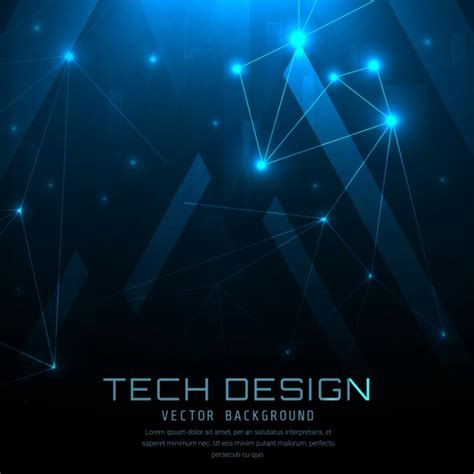 blue technical background design vector