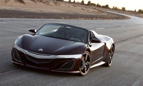 sport car garage acura nsx roadster 2014