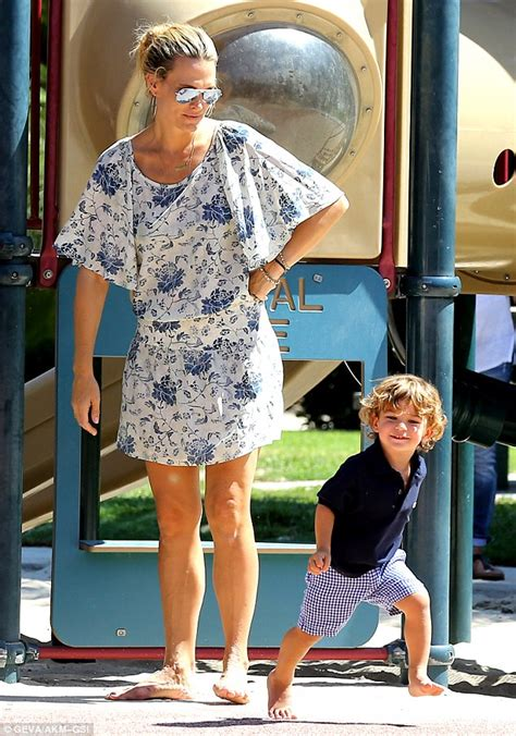 Molly Sims Enjoys Some Motherson Bonding With Her Son