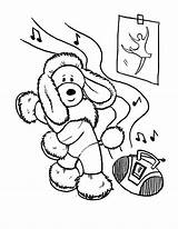 Coloring Dance Poodle Dog Funny Tap Hop Hip Dancing Learn Printable Getcolorings Frame sketch template