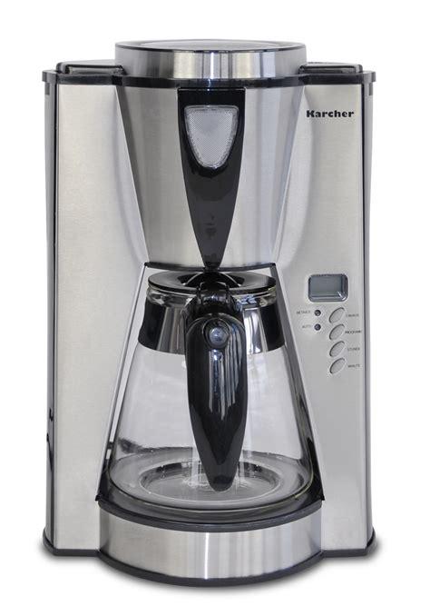 de karcher 112884 kaffeemaschine silver mit timer