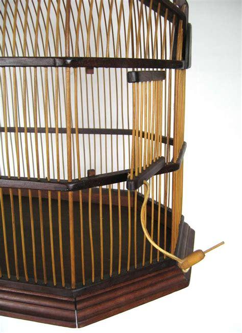 stunning mid century modern walnut bird cage at 1stdibs