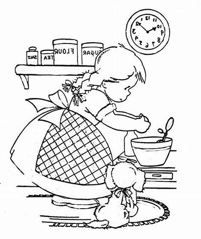 Coloring Cooking Embroidery Patterns Flickr Hand Puppy
