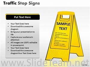 Road Safety Traffic Stop Powerpoint Slides