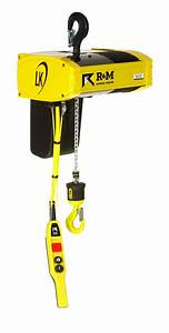 R U0026m Lk 1  2 Ton Electric Chain Hoist Top Hook Mount