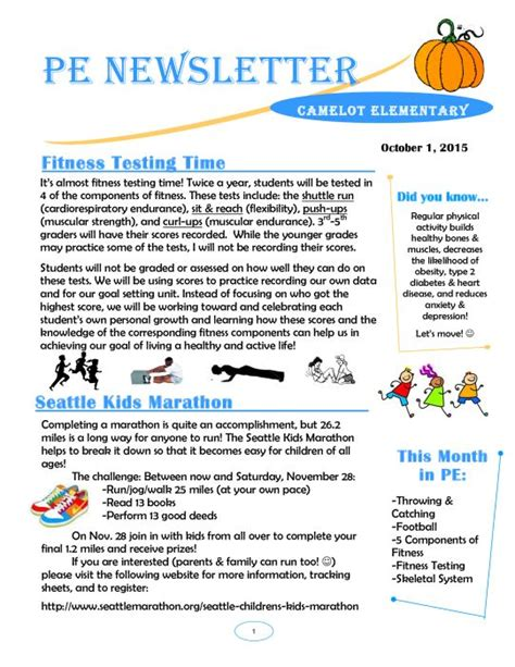 october newsletter ideas october pe newsletter pe bulletin boards pinterest