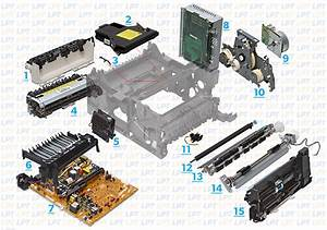 Parts Diagram 1 For Laserjet 4000  4050