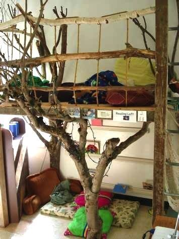 kids room tree house bed  real branches kids room