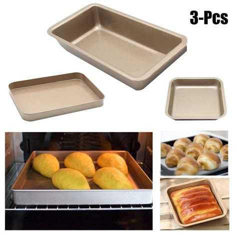 baking square nonstick tray pan carbon steel utensil microondas advanced