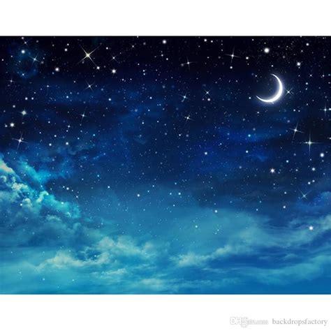 Dark Blue Night Sky Glitter Stars Photography