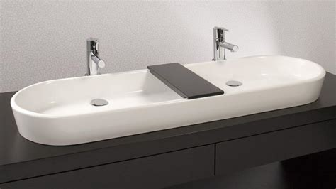 vov848a 48 quot bathroom double trough sink the ove