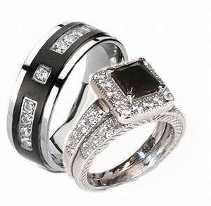 grand wedding ring sets for him and her silver With her and her wedding rings