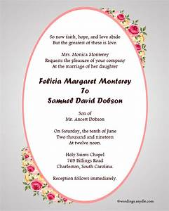 Christian wedding invitation wording samples wordings for Samples of christian wedding invitations