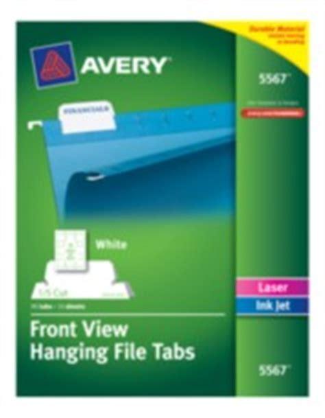 hanging file tabs  cut