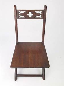 Antique Victorian Gothic Revival Hall Chair Side Nursing