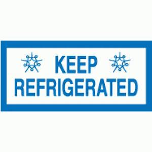 682 keep refrigerated on rolls 84mm x 39mm With keep refrigerated label