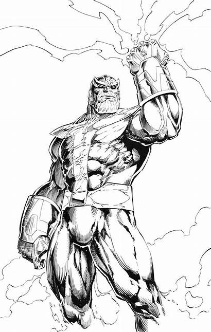 Thanos Coloring Pages Marvel Avengers Cool Comics