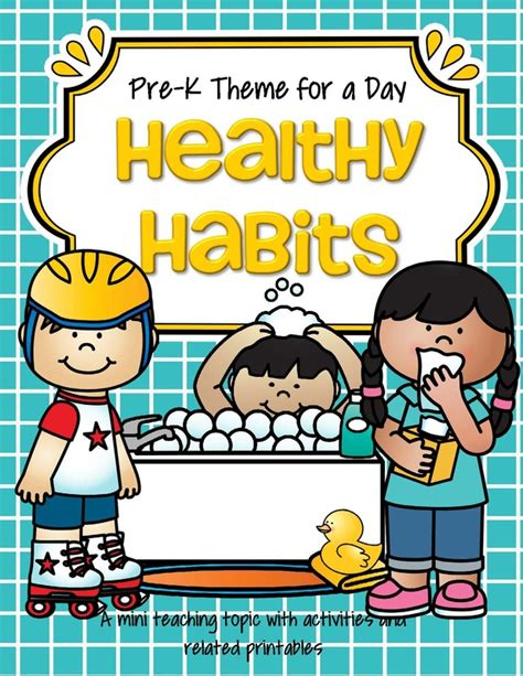 theme activities and printables for preschool pre k and 841 | pre k theme for a day healthy habits page 01 orig