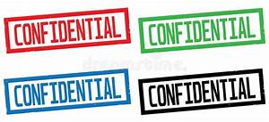 CONFIDENTIAL Text, On Rectangle Border Stamp Sign. Stock ...