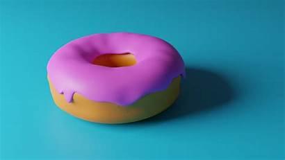 Donuts Animated Galaxy Doughnut