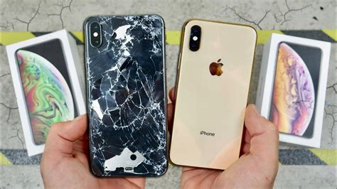 iphone xs  xs max drop test worlds strongest glass youtube