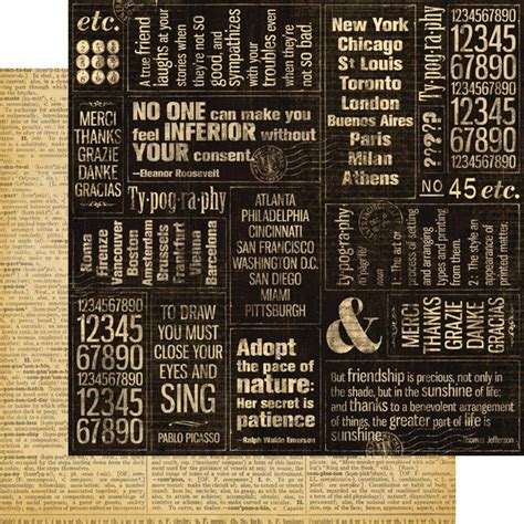 graphic 45 typography collection 12 x 12 double sided paper journey